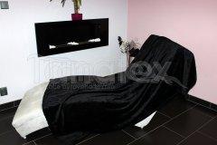 Deka mikro - černá Přehozy na postel a deky - Deky - 150x200
