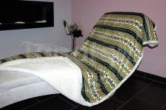 Deka mikro s beránkem - Zima hnědá Přehozy na postel a deky - Deky - 150x200