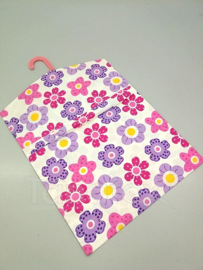 Kapsář na ramínko - růžové kytičky