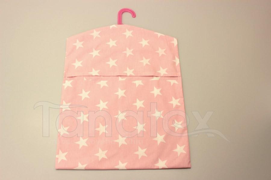 Kapsář na ramínko - hvězdy na růžové - na ramínko