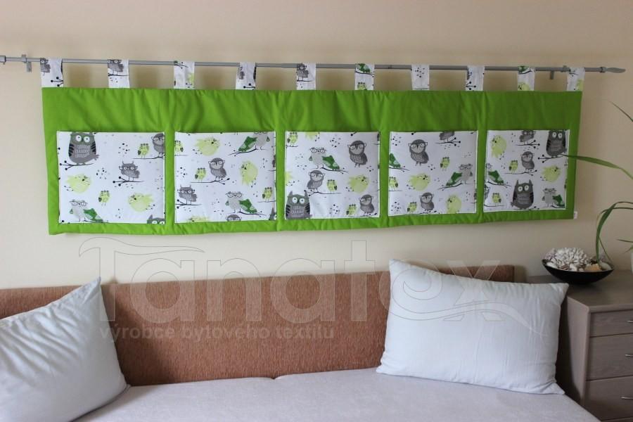 Kapsář - Zelený - zelené sovičky - velký