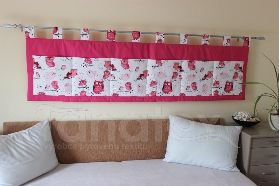 Kapsář - Růžový - sovičky - velký