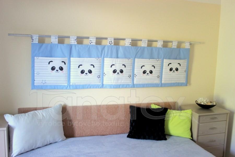 Kapsář - Modrý s pandou