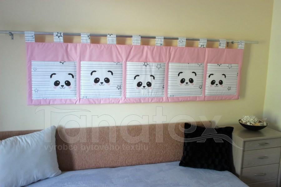 Kapsář - Růžový s pandou - velký