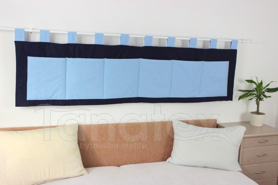 Kapsář - Uni tmavě modrý - středně modré kapsy