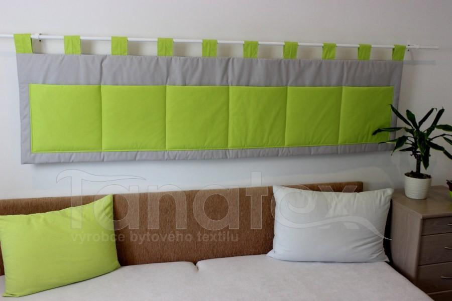 Kapsář - Šedý - kiwi zelené kapsy
