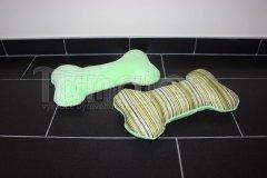 Polštářek kostička - zelená s pruhy Pelíšky pro psy - Polštářky pro psy