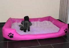 Pelech Dios - růžový vel. L 95x70 Pelíšky pro psy - Pelechy - Lehká podložka - Dios