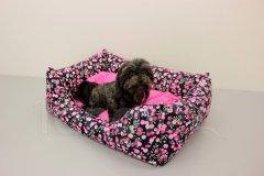 Obdelníček malý Bobule - polštář růžový Pelíšky pro psy - Pelechy - Obdelníček