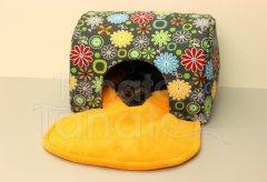 Tunel lux - Kytičky barevné Pelíšky pro psy - Pelechy - Tunel - luxus - omyvatelný