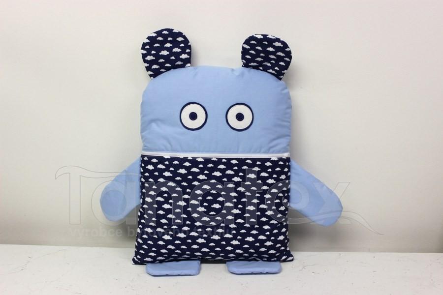 Pyžamožrout - Modrý s mráčky