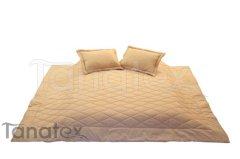 PŘEHOZ UNI BÉŽOVÝ 140x220 Přehozy na postel a deky - Přehozy - na jednolůžko