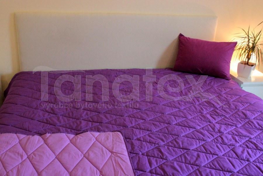 Přehoz uni fialový - tmavě fialový - na jednolůžko