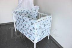 5 ti dílná sada Myšky tyrkysové Pro děti - Polštářek pro miminko - Zvýhodněné sady pro miminko