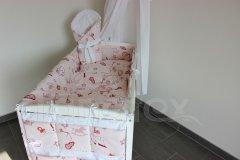 5 ti dílná sada Šedorůžové dudlíky Pro děti - Polštářek pro miminko - Zvýhodněné sady pro miminko