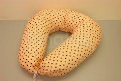 Kojící polštář Mini srdíčka meruňková Pro děti - Kojící polštář