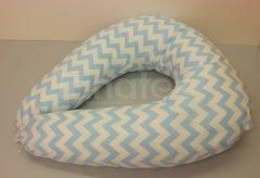 Kojící polštář Velký modrý cik cak Pro děti - Kojící polštář