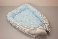 Hnízdečko Králíček - šedý pruh Pro děti - Polštářek pro miminko - Hnízdečko - Hnízdečka do postýlky z bavlny