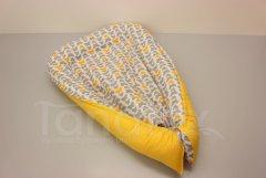 Hnízdečko Motýlci žlutí a šedí - žlutá Pro děti - Polštářek pro miminko - Hnízdečko - Hnízdečka do postýlky z bavlny