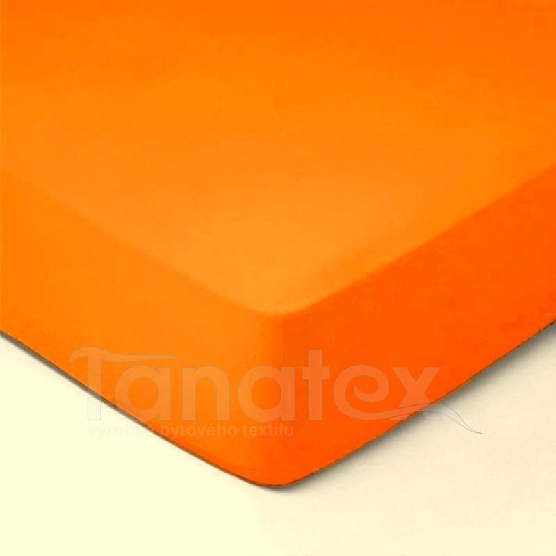 Prostěradlo jersey č.15 oranžové