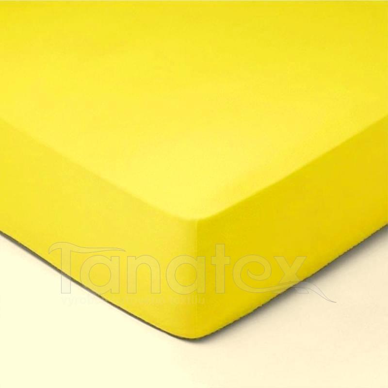 Prostěradlo froté  č.6 sluníčkově žluté