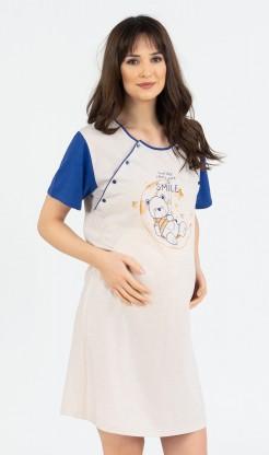 Dámská noční košile mateřská Méďa Smile
