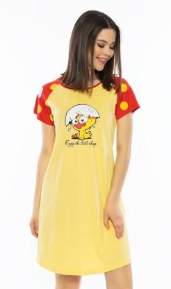 Dámská noční košile s krátkým rukávem Kuře