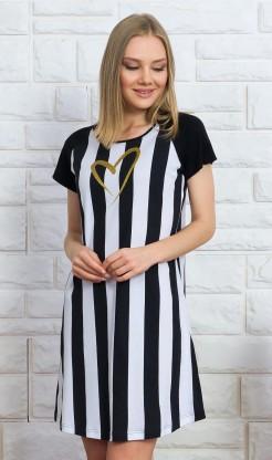 Dámská noční košile s krátkým rukávem Pruhy