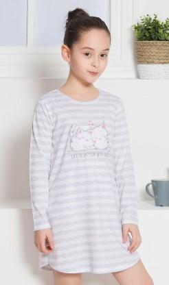 Dětská noční košile s dlouhým rukávem Koťata