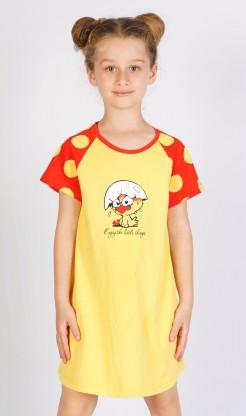 Dětská noční košile s krátkým rukávem Kuře