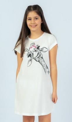 Dětská noční košile s krátkým rukávem Žirafa