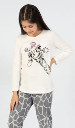 Dětské pyžamo dlouhé Velká žirafa