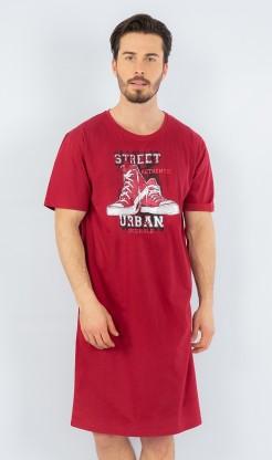 Pánská noční košile s krátkým rukávem Tenisky - Ženy | Dámské noční košile | Nadměrné dámské noční košile